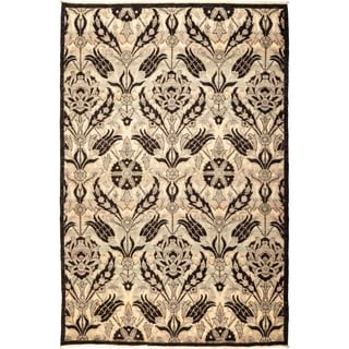 """Suzani, Hand Knotted Area Rug - 5' 3"""" x 7' 10"""" - 5'3"""" x 7'10"""""""