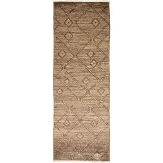 Bohemian Moroccan One-of-a-Kind Hand-Knotted Runner Area Rug - 2 x 5