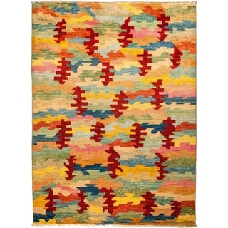 """Kaitag, Hand Knotted Area Rug - 5' 9"""" x 7' 9"""" - 5'9"""" x 7'9"""""""