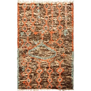 """Tullu, Hand Knotted Area Rug - 6' 2"""" x 9' 5"""" - 6'2"""" x 9'5"""""""