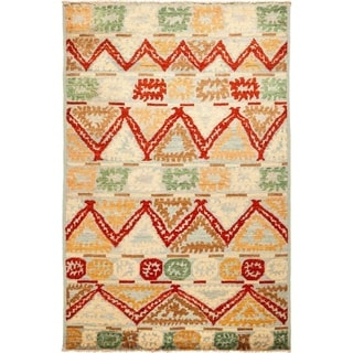 """Kaitag, Hand Knotted Area Rug - 5' 2"""" x 8' 0"""" - 5'2"""" x 8'"""