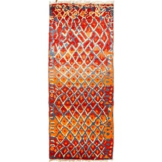 "Tullu, Hand Knotted Area Rug - 5' 1"" x 12' 5"" - 5'1"" x 12'5"" Runner"