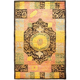 """Kaitag, Hand Knotted Area Rug - 5' 10"""" x 9' 0"""" - 5'10"""" x 9'"""