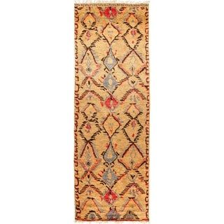 "Tullu, Hand Knotted Area Rug - 4' 2"" x 12' 0"" - 4'2"" x 12' Runner"