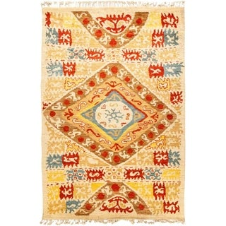 """Tullu, Hand Knotted Area Rug - 6' 2"""" x 8' 10"""" - 6'2"""" x 8'10"""""""