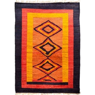 """Tullu, Hand Knotted Area Rug - 6' 6"""" x 9' 0"""" - 6'6"""" x 9'"""