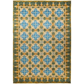 "Suzani, Hand Knotted Area Rug - 10' 1"" x 14' 3"" - 10'1"" x 14'3"""