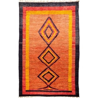 """Tullu, Hand Knotted Area Rug - 6' 2"""" x 9' 9"""" - 6'2"""" x 9'9"""""""