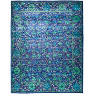 "Suzani, Hand Knotted Area Rug - 12' 3"" x 15' 7"" - 12'3"" x 15'7"""