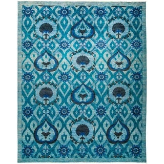 """Suzani, Hand Knotted Area Rug - 9' 3"""" x 11' 8"""" - 9'3"""" x 11'8"""""""