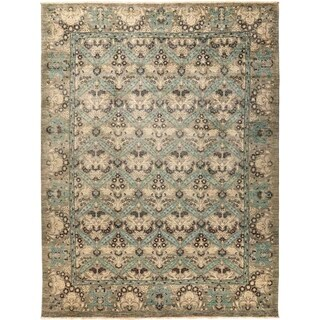 """Suzani, Hand Knotted Area Rug - 9' 2"""" x 12' 2"""" - 9'2"""" x 12'2"""""""