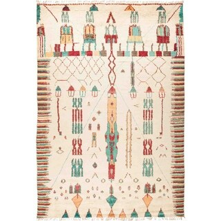 """Moroccan, Hand Knotted Area Rug - 9' 9"""" x 14' 1"""" - 9'9"""" x 14'1"""""""