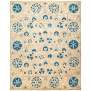 "Suzani, Hand Knotted Area Rug - 8' 3"" x 10' 3"" - 8'3"" x 10'3"""