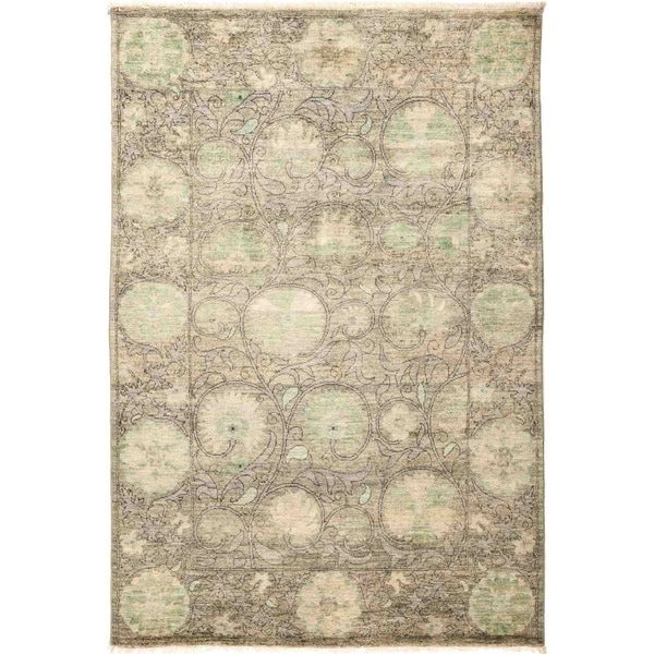"""Suzani, Hand Knotted Area Rug - 4' 4"""" x 6' 3"""" - 4'4"""" x 6'3"""""""