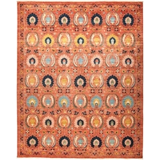 "Suzani, Hand Knotted Area Rug - 9' 2"" x 11' 6"" - 9'2"" x 11'6"""