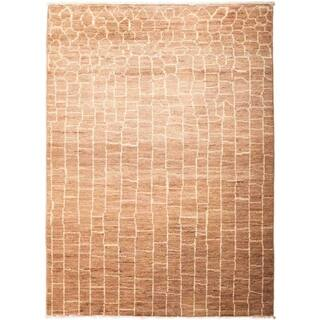 """Moroccan, Hand Knotted Area Rug - 4' 10"""" x 6' 9"""" - 4' 10"""" x 6' 9"""""""
