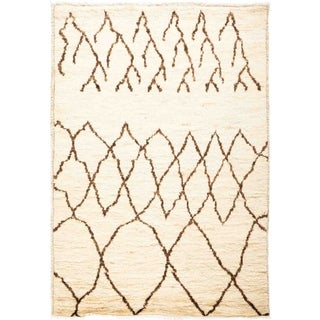 """Moroccan, Hand Knotted Area Rug - 3' 3"""" x 4' 10"""" - 3'3"""" x 4'10"""""""