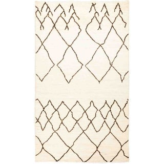 """Moroccan, Hand Knotted Area Rug - 4' 9"""" x 8' 3"""" - 4'9"""" x 8'3"""""""