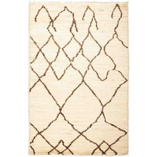 """Moroccan, Hand Knotted Area Rug - 3' 3"""" x 5' 1"""" - 3'3"""" x 5'1"""""""