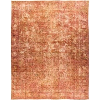 """Vintage, Hand Knotted Area Rug - 9' 8"""" x 12' 4"""" - 9' 8"""" x 12' 4"""""""
