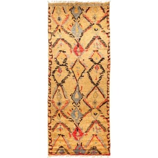 "Tullu, Hand Knotted Area Rug - 5' 1"" x 12' 7"" - 5'1"" x 12'7"" Runner"