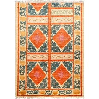 """Tullu, Hand Knotted Area Rug - 6' 9"""" x 8' 10"""" - 6'9"""" x 8'10"""""""