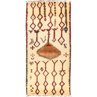 "Tullu, Hand Knotted Area Rug - 5' 6"" x 11' 6"" - 5'6"" x 11'6"""