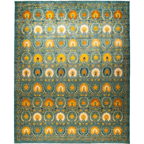 "Suzani, Hand Knotted Area Rug - 12' 2"" x 15' 1"" - 12'2"" x 15'1"""