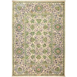 """Suzani, Hand Knotted Area Rug - 5' 1"""" x 7' 3"""" - 5'1"""" x 7'3"""""""