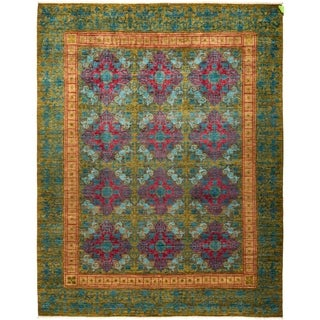 """Suzani, Hand Knotted Area Rug - 8' 1"""" x 10' 2"""" - 8'1"""" x 10'2"""""""