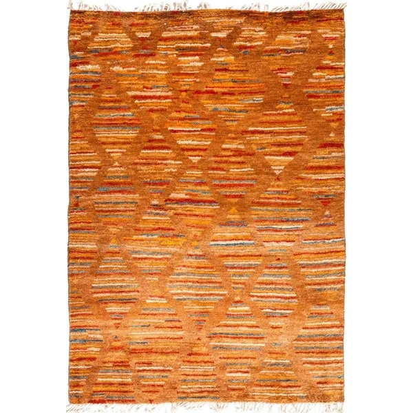"Tullu, Hand Knotted Area Rug - 6' 0"" x 8' 6"" - 6' x 8'6"""