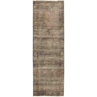"Vintage, Hand Knotted Area Rug - 2' 10"" x 8' 10"" - 2'10"" x 8'10"" Runner"