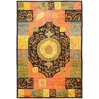 """Kaitag, Hand Knotted Area Rug - 6' 1"""" x 9' 4"""" - 6'1"""" x 9'4"""""""