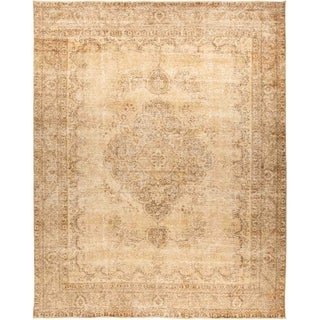 """Vintage, Hand Knotted Area Rug - 9' 10"""" x 12' 6"""" - 9' 10"""" x 12' 6"""""""