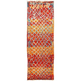 "Tullu, Hand Knotted Area Rug - 4' 2"" x 12' 5"" - 4'2"" x 12'5"" Runner"