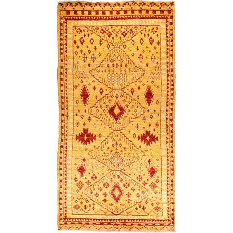 Bohemian Shaggy Moroccan One-of-a-Kind Hand-Knotted Area Rug - 8 x 10