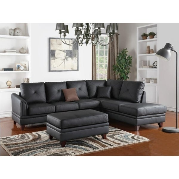 Cool Graves Genuine Leather 2 Pcs Sectional Sofa Ocoug Best Dining Table And Chair Ideas Images Ocougorg
