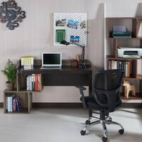Furniture of America Lorne Walnut Storage Desk