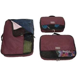 Ben Sherman Ultralight Printed 3-Piece Packing Cube Travel Set (Small, Medium, Large 3-Piece Set)