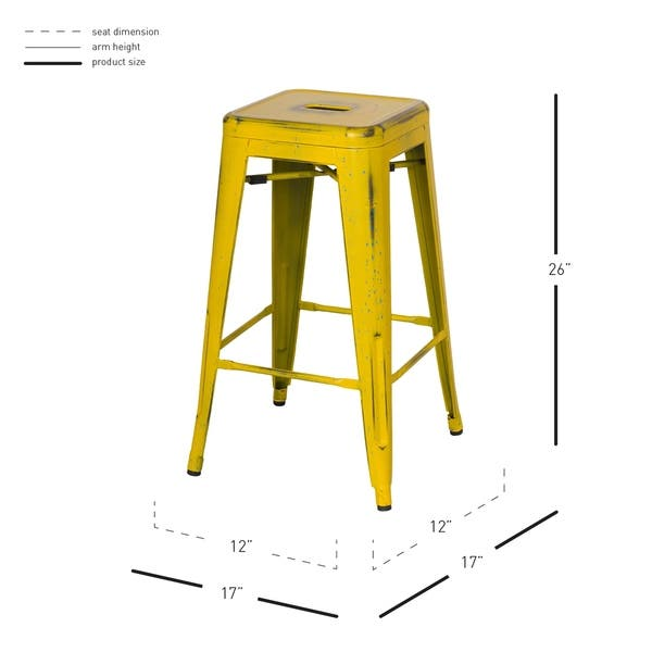 Stupendous Shop Metropolis Metal Backless Counter Stool Set Of 4 Free Caraccident5 Cool Chair Designs And Ideas Caraccident5Info