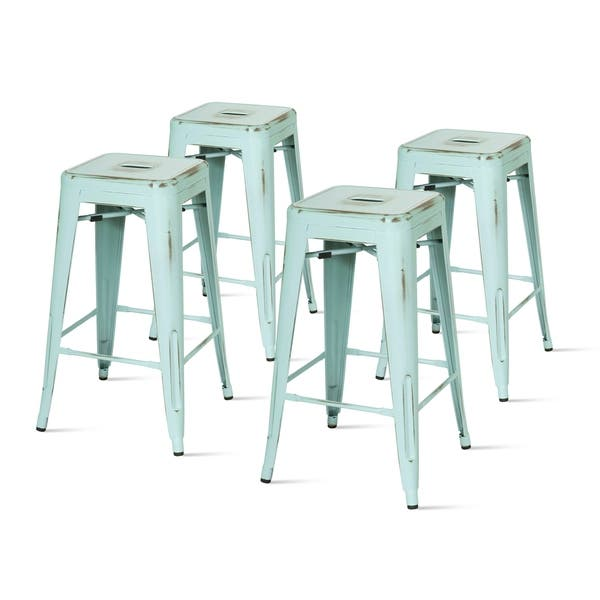 Groovy Shop Metropolis Metal Backless Counter Stool Set Of 4 N A Pabps2019 Chair Design Images Pabps2019Com
