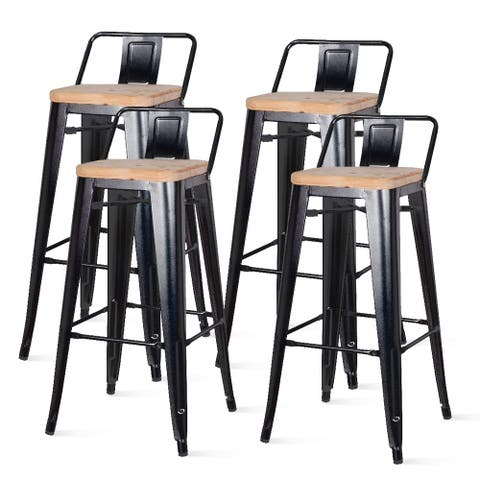Metropolis Low Back Bar Stool,Set of 4