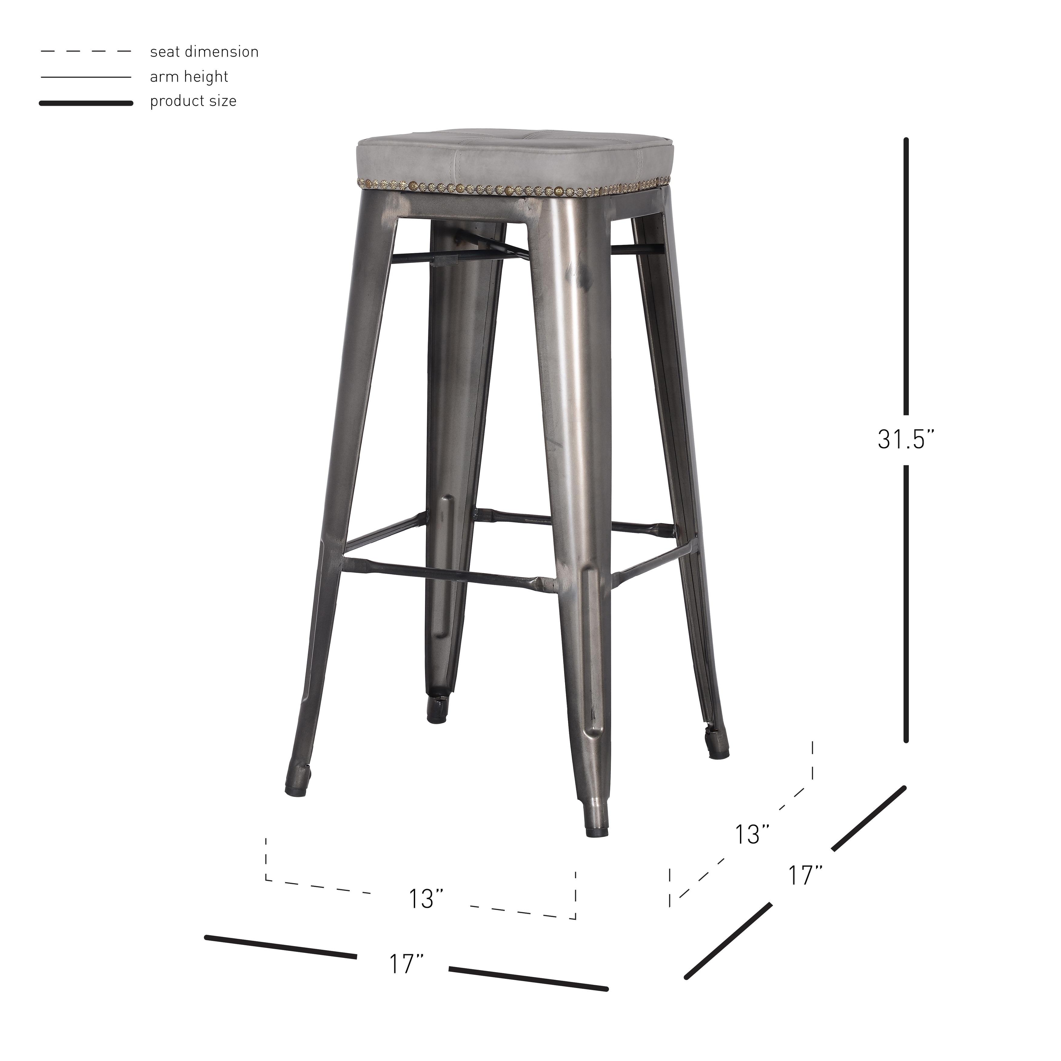 Cool Metropolis Pu Leather Metal Backless Bar Stool Set Of 4 Creativecarmelina Interior Chair Design Creativecarmelinacom