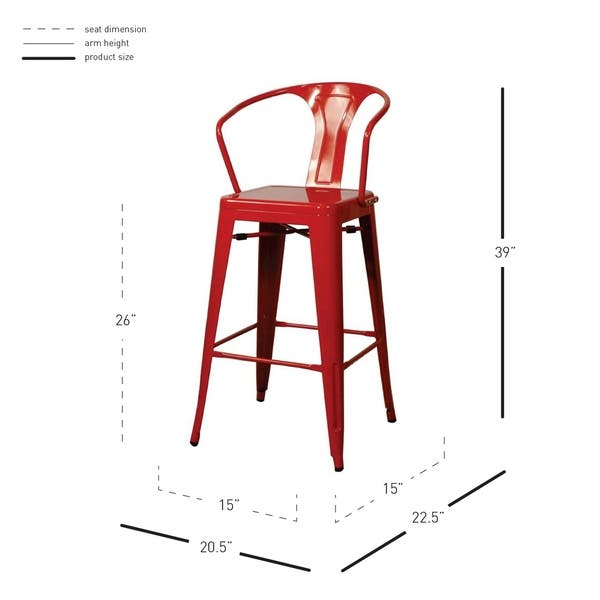 Excellent Shop Metropolis Metal Counter Stool Set Of 4 N A Free Caraccident5 Cool Chair Designs And Ideas Caraccident5Info