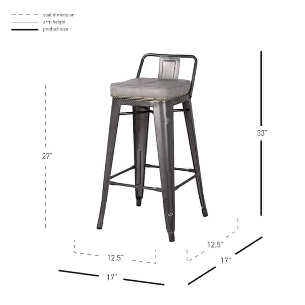 Wondrous Shop Metropolis Low Back Counter Stool Set Of 4 N A Free Caraccident5 Cool Chair Designs And Ideas Caraccident5Info