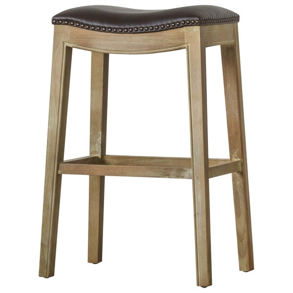 1e3998ef494c Shop Elmo Bonded Leather Bar Stool - Free Shipping Today - Overstock ...