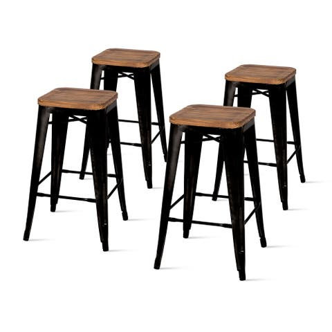 Metropolis Backless Counter Stool,Set of 4