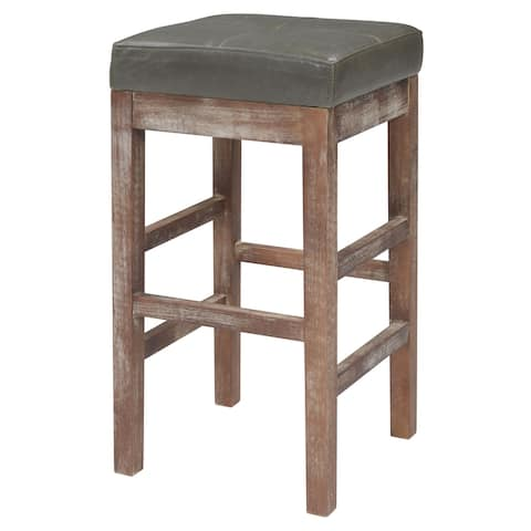 Valencia Bonded Leather Backless Counter Stool