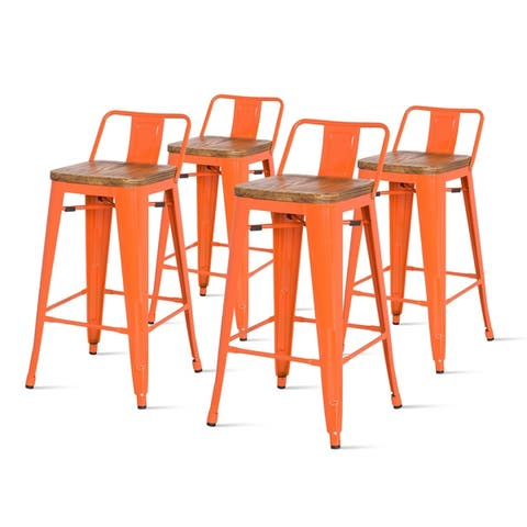Metropolis Low Back Counter Stool,Set of 4