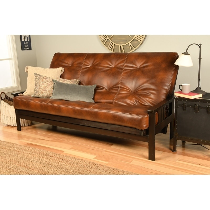 Details About Queen Size Futon With Espresso Finish And Oregon Trail  Mattress
